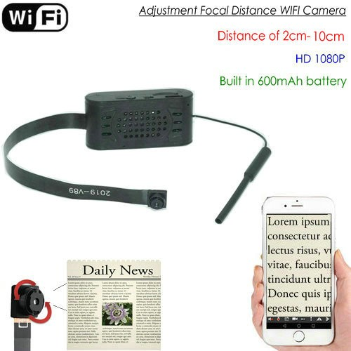 Adjustment focal distance WIFI Camera Module, HD1080P, Focal 2cm-10cm, 600mAh - 1