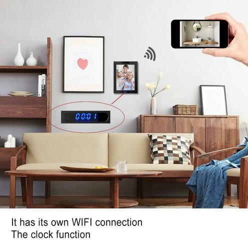 WIFI Clock Photo Frame Camera, HD1080P,Clock Function, TF Max 128G, 3500mAh battery - 4