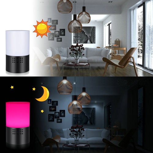 WIFI Lamp Camera, HD 1080P, 7 Color LED Light, Super Nightvision, amazon Alexa - 8