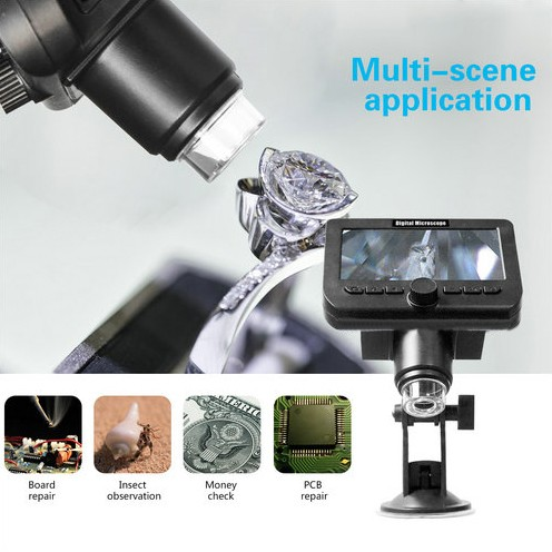 WIFI Microscope Camera, 4.3inch LCD, 2.0MP Camera, 8pcs White LED,50-1000X - 3