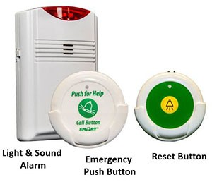 EA008-SETS - Elderly Wireless Toilet Emergency Alarm for Home