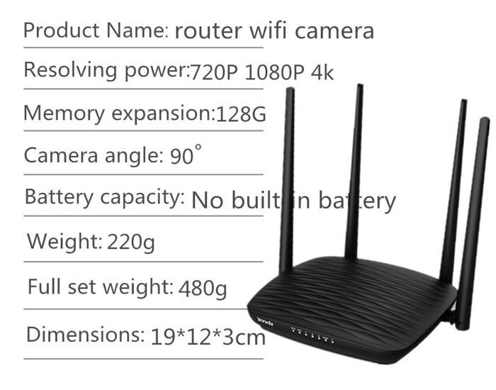 SPY296 - 4K WIFI Router Camera, HD 4K2K, Hisilicon 3518E, 2.0MP Camea,TF Max 128G 00-700x