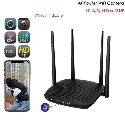 SPY296 - 4K WIFI Router Camera, HD 4K2K, Hisilicon 3518E, 2.0MP Camea,TF Max 128G
