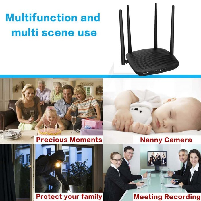 SPY296 - 4K WIFI Router Camera, HD 4K2K, Hisilicon 3518E, 2.0MP Camea,TF Max 128G 05-700x