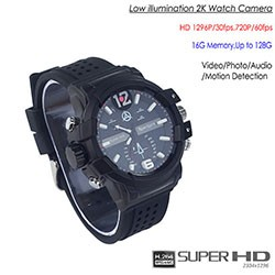 SPY301 - Low illumination 2K Watch Camera,HD1296P 30fps, H.264 MOV, Built in 16G, Waterproof 01