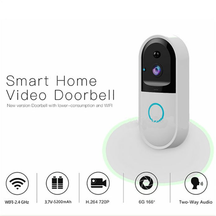 SPY303 - WIFI Smart Doorbell Camera, Hisilicon 3518E Chipset, PIR Sensor, Nightvision,Two-way Talk 12