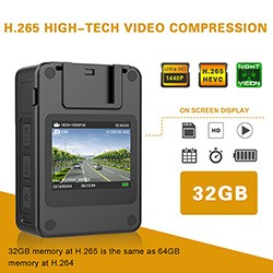 BWC071 - Extra Mini Body Worn Camera 01 250x