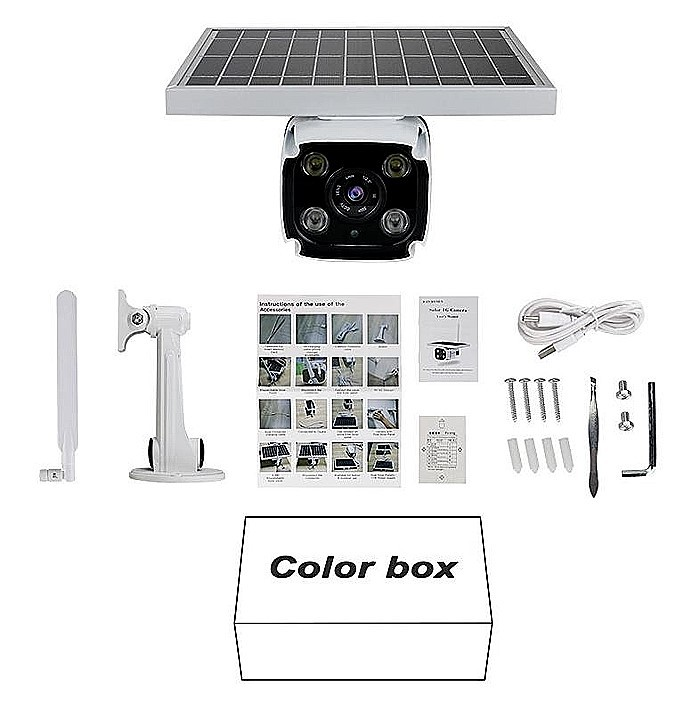 SPY318 - Outdoor Wireless 3G 4G security ip Camera with SIM CardSD Card Slot Solar Powered CCTV Camera