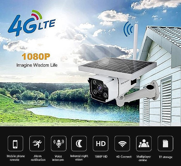 SPY318 - Outdoor Wireless 3G 4G security ip Camera with SIM Card