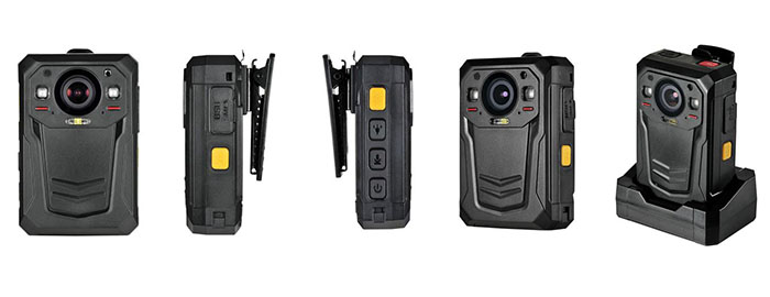BWC058-4G - Mini WIFI,GPS,3G,4G Body Worn Camera - Different Angle View