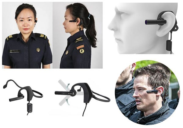 BWC076 - OMG Poilce Body Worn Camera with Bullet Head Sets for Paramedics 05