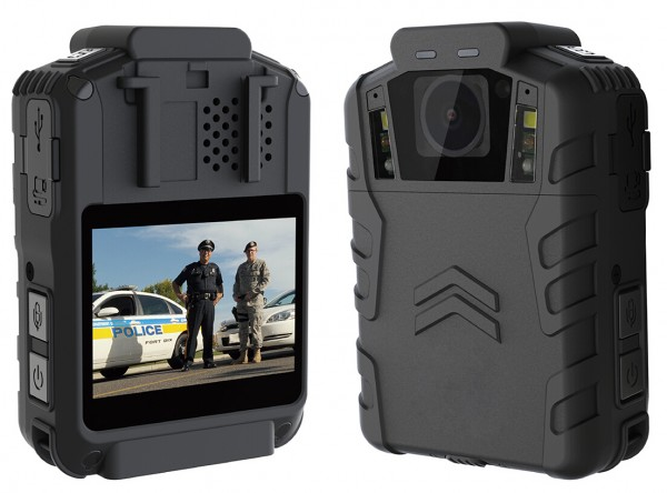 BWC076 - OMG Poilce Body Worn Camera with Bullet Head-set for Paramedics - Front & Back View