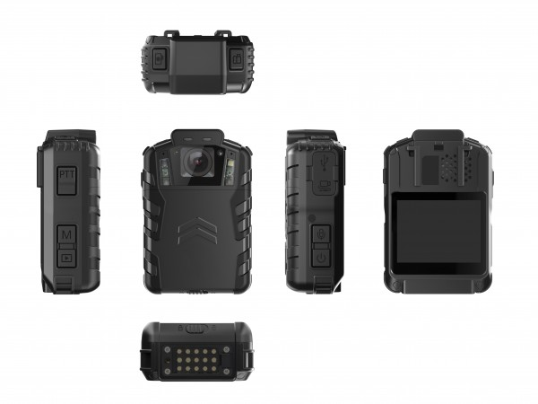 BWC076 - OMG Poilce Body Worn Camera with Bullet Head-set for Paramedics - Full View