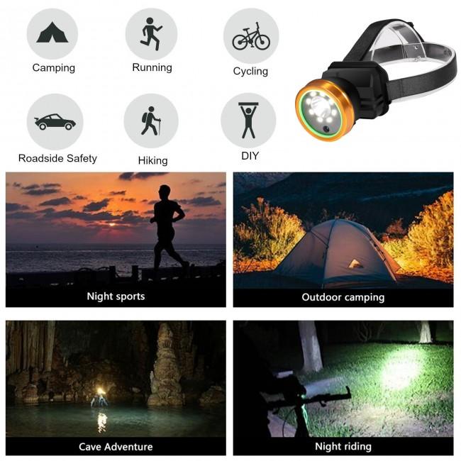 BWC062 - Headlight Video Recorder, HD Video 1080p, Waterproof /IP66, TF Max 128G, LED Light, 4000mAh
