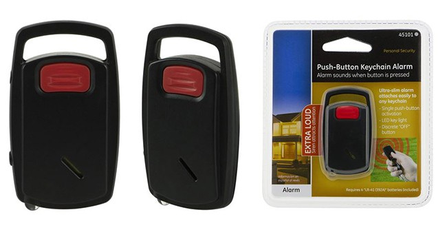Self-Defense Push-Button Keychain Alarm, Built-In LED Light (EA030)650x