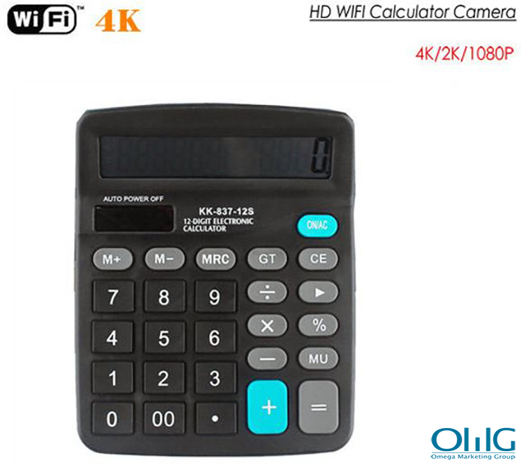 4K WIFI Calculator Camera, Support Max SD Card 128GB