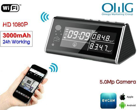 Aerial Detector WIFI Clock Camera, 5.0MP,1080P,H.264
