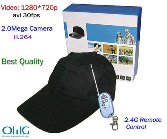 Baseball Cap SPY Camera, with Wireless Remote Control - 1