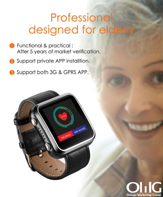 Elderly Health Monitoring GPS Tracker Watch