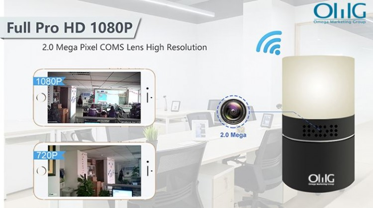 HD 1080P Deasc Lampa Slándála Wi-Fi Camera