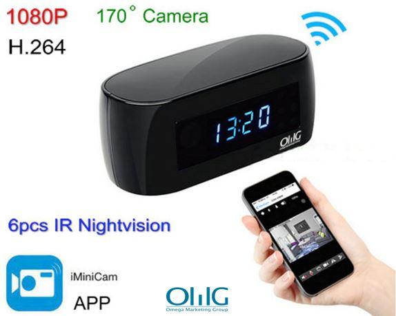 New WIFI clock camera, 12Mega pixel Camera,P2P,IP, H.264,1080p