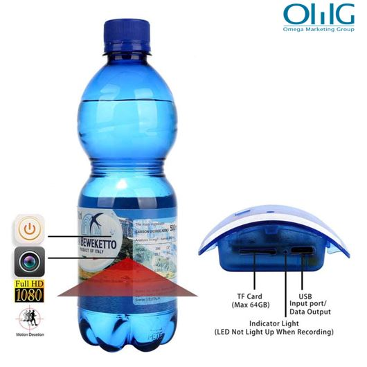 Portable Real Water Bottle Hidden Spy Camera
