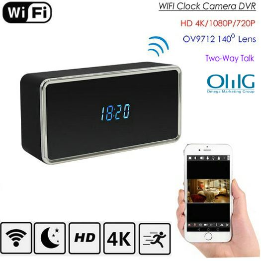 Rectangular WIFI Clock Camera, 128G