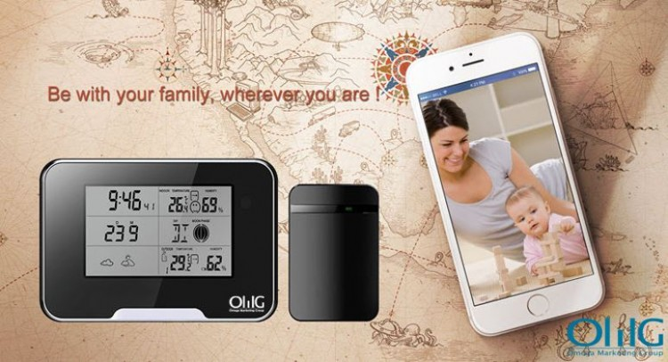 SPY062 - Varnostna kamera za vremensko postajo WIFI HD 1080P, podporna kartica SD 64GB