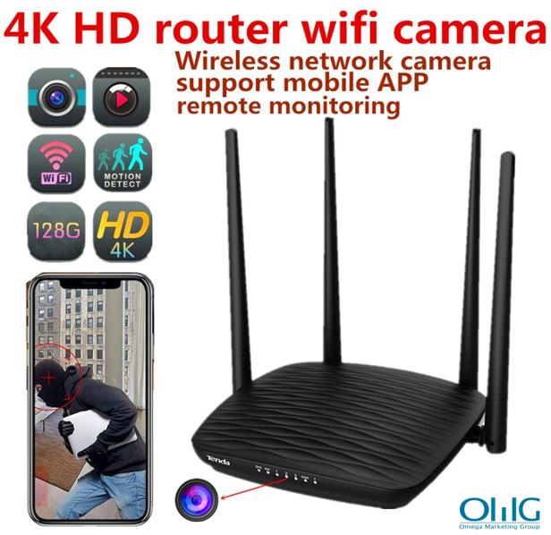 SPY296 - 4K WIFI Router Camera, HD 4K2K, Hisilicon 3518E, 2.0MP Camea,TF Max 128G