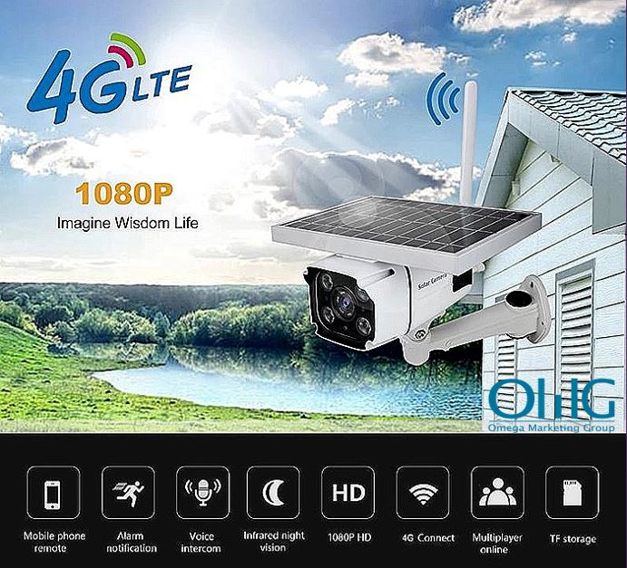 SPY318 - Outdoor Wireless 3G 4G security ip Camera with SIM Card SD Card Slot Solar Power
