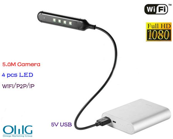 WIFI USB Lampa Ceamara DVR, 5.0M Camera1080p