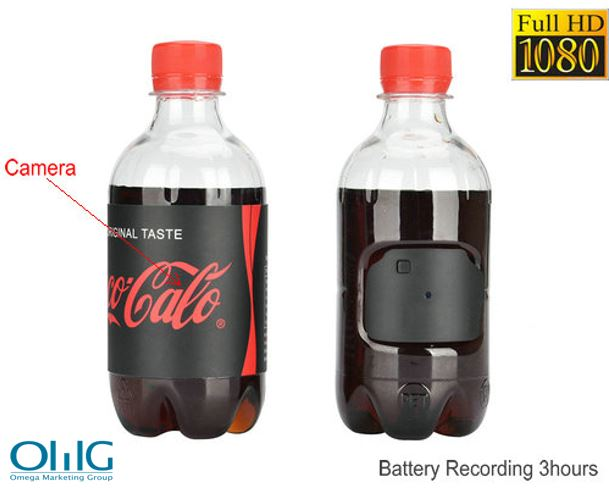 Water Bottle Hidden Camera, HD1080P 30fps, Battery Time 3hrs