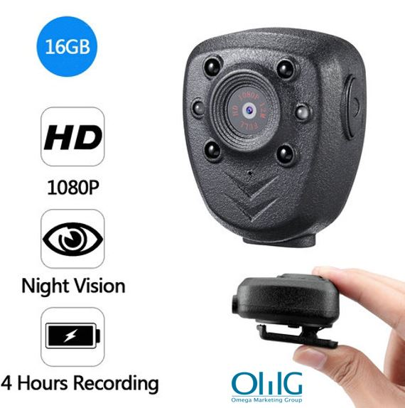 Clip Camera DVR, Super Nightvision, Battery Rec 4hours, Build in 16G