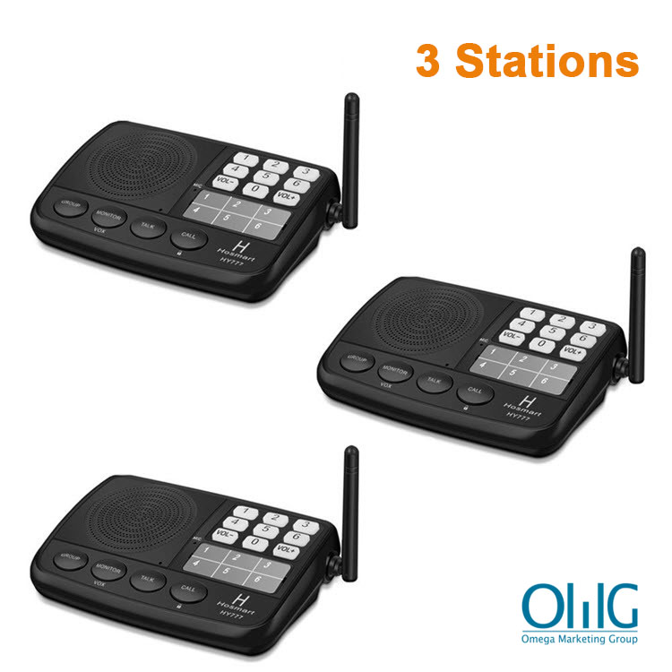 Digital-FM-Wireless-Intercom-System-for-Home-and-Office-3-Stations - Main Image