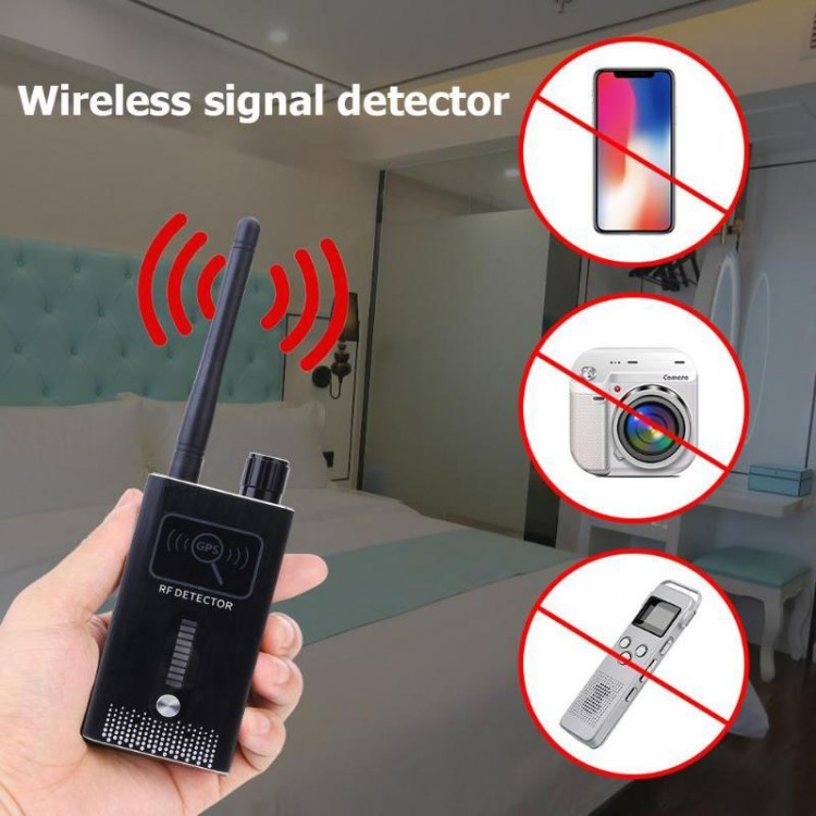 GPS SPY Camera RF Dual Signal Detector, Range 1-8000MHz, Distance 5-8m - 01 New