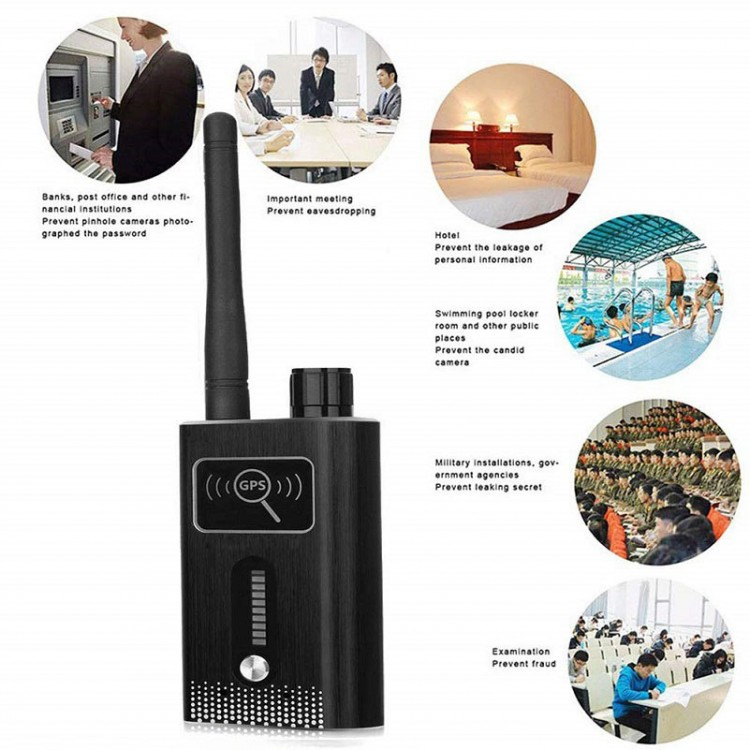 GPS SPY Camera RF Dual Signal Detector, Range 1-8000MHz, Distance 5-8m - 03 New