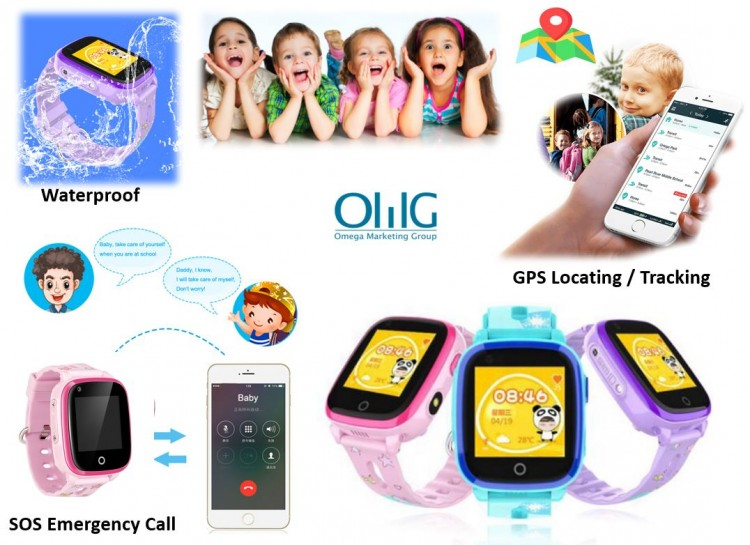 Latest Singapore Waterproof 4G Kids Phone Watch (GPS032W)