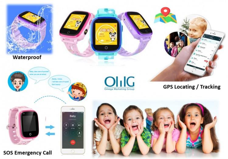 GPS032W - Waterproof SOS GPS Call Watch for Kids