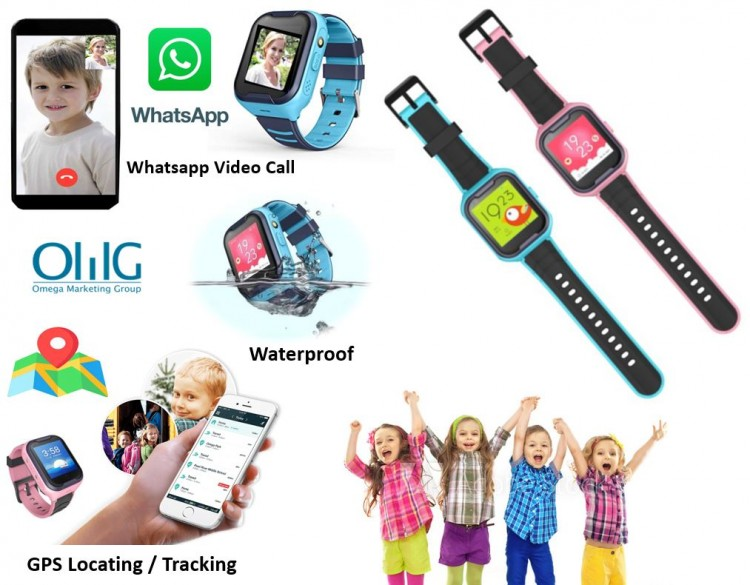 GPS033W - Waterproof GPS Whatsapp Video Call Kids Watch 03