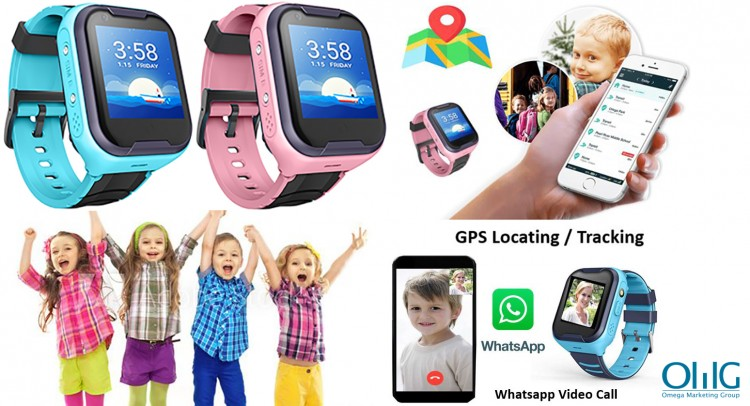 GPS033W - Waterproof GPS Whatsapp Video Call Kids Watch