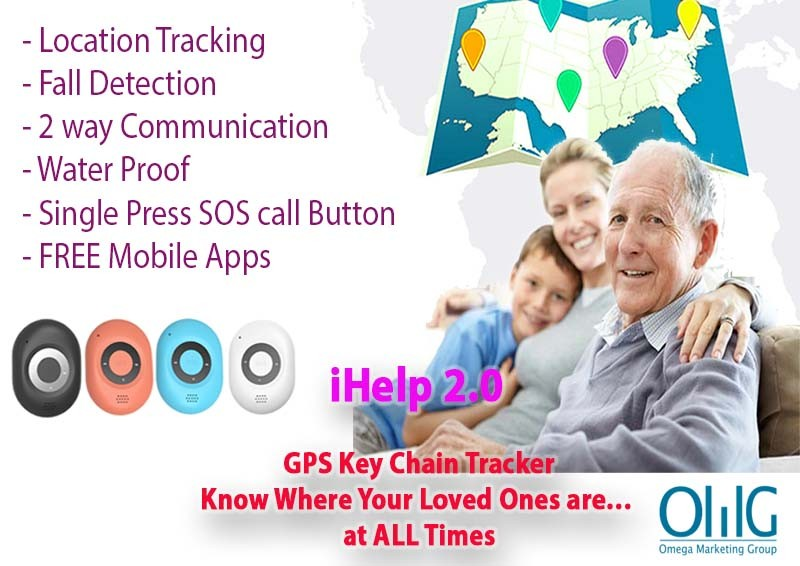GPS040D - iHelp Keychian GPS Tracking Fall Detection Elderly