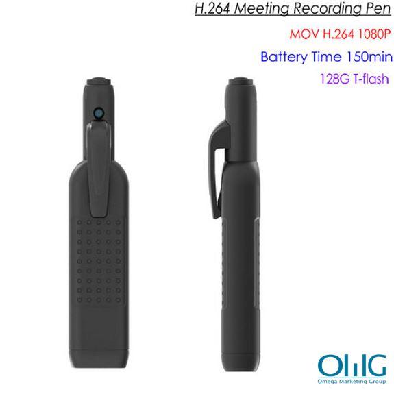HD Pen Meeting Camera DVR, SD Max 128G, 2.5Hrs