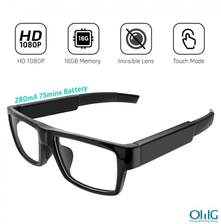 HD1080P Kacamata Kamera Tersembunyi