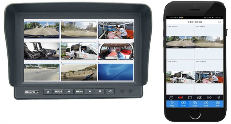 MDVR010 - Ambulance Vehicle Monitoring Solution - 1080P High Definition Recording