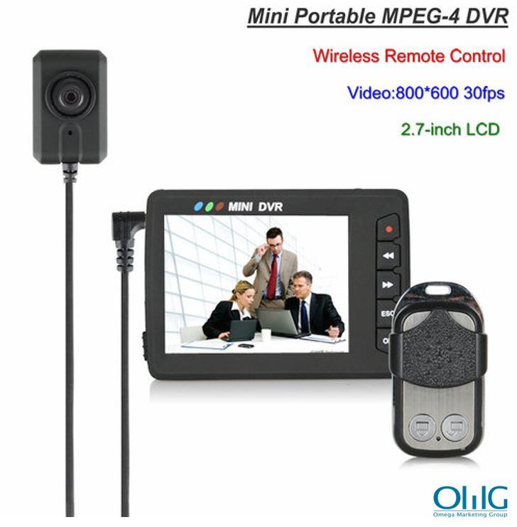 Mini Portable Button Camera DVR, Wireless Remote Control