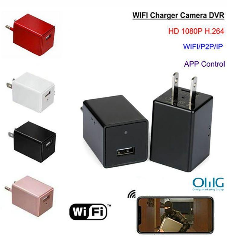 WIFI Charger Camera DVR, HISILICON, 5.0M Camera, 1080P, TF Card