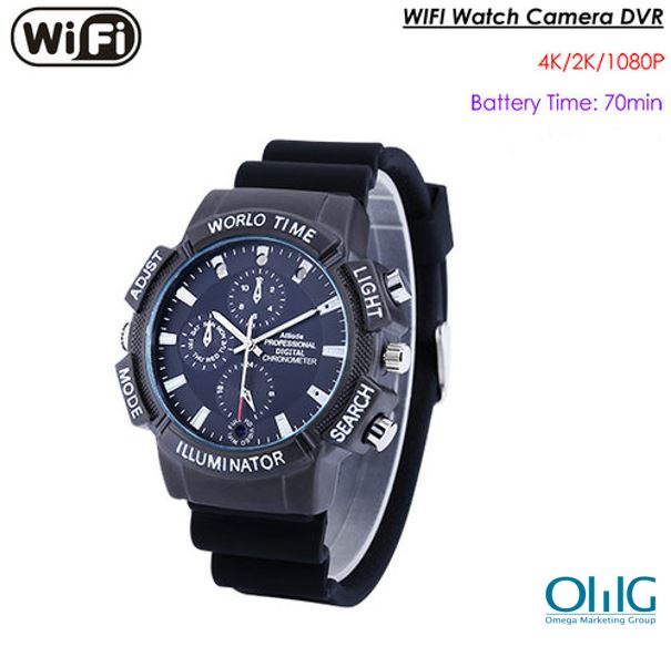 WIFI SPY Watch Hidden Camera, SDCard Max 128G, Nightvision