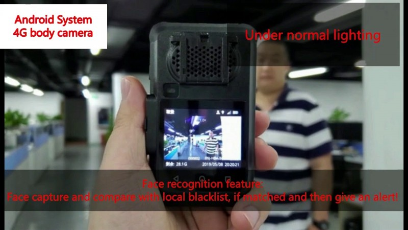 OMG-BWC073 - Body Worn Camera 4G Live Streaming + Face Recognition - Blacklist Candidate in Airport