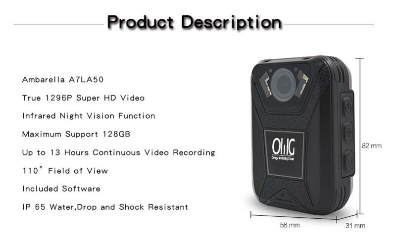 BWC003 - OMG Mini Police Body Worn Camera - Features