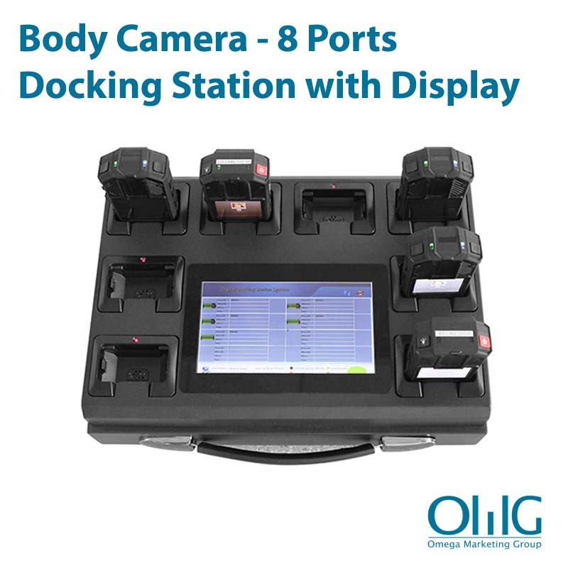 BWC004-DOCK8-DISP - Body Worn Camera - 8 Ports Docking Station with Display Screen